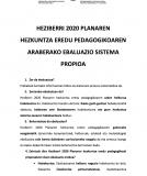 HEZIBERRI 2010 PLANA