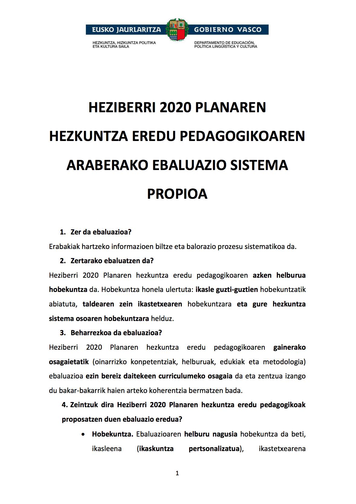 HEZIBERRI 2020 PLANA