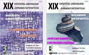 XIX Matematika Jardunaldiak 2018