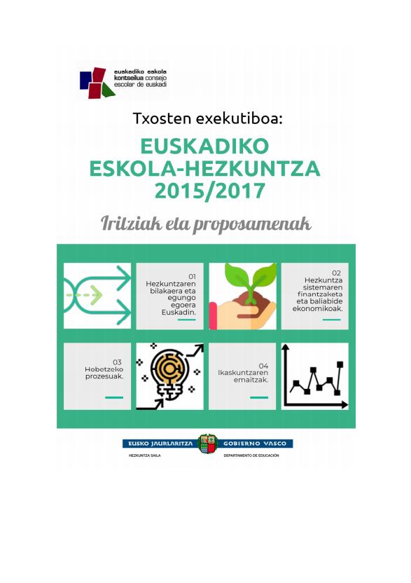 Txosten Exekutiboa: EUSKADIKO ESKOLA-HEZKUNTZA 2015/2017