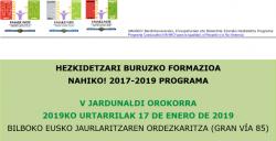 NAHIKO! 2017-2019 PROGRAMAREN V. JARDUNALDI Orokorraren Inguruko Informazioa